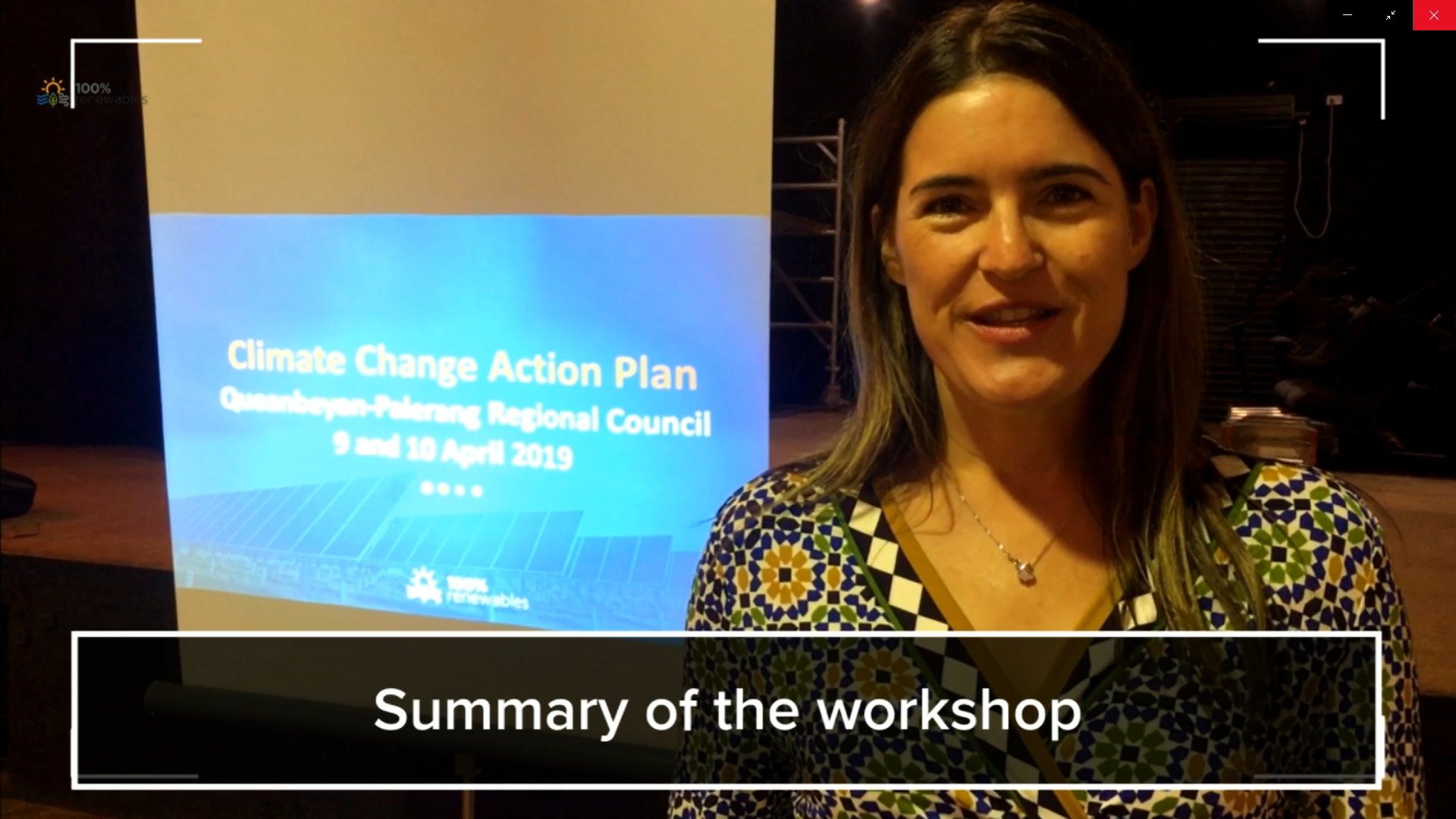 Barbara Albert from 100% RE community climate change action plan QPRC