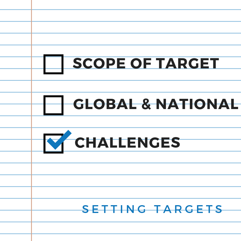 Challenges with ambitious targets