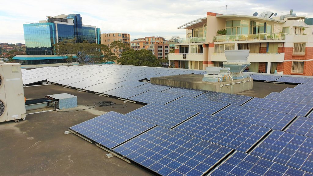 Lionel Bowen Library solar installation, Randwick City Council (photo by Patrick Denvir)