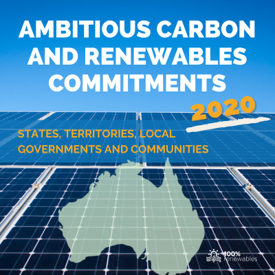 100% Renewables ambitious carbon and renewable ommitments